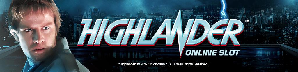 Highlander Slot Banner